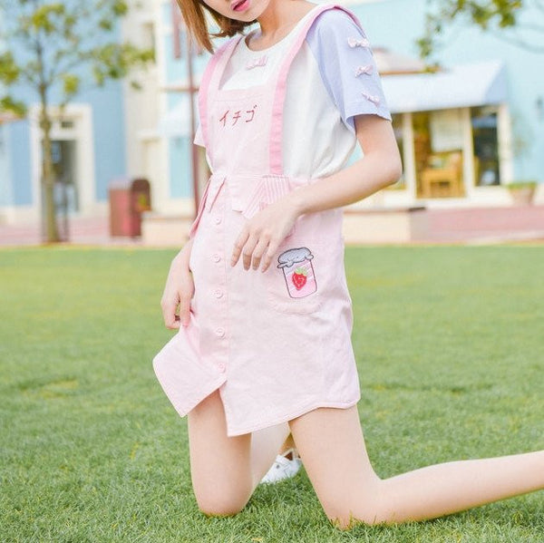 Japanese Kawaii Strawberry Strap Dress