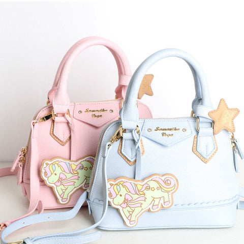 Light Pink/Light Blue Cartoon Unicorn Bag