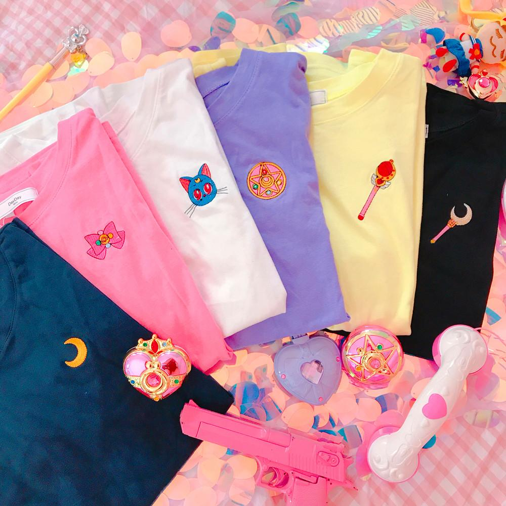 6 Colors Sailor Moon  Luna Tee Shirt K13060