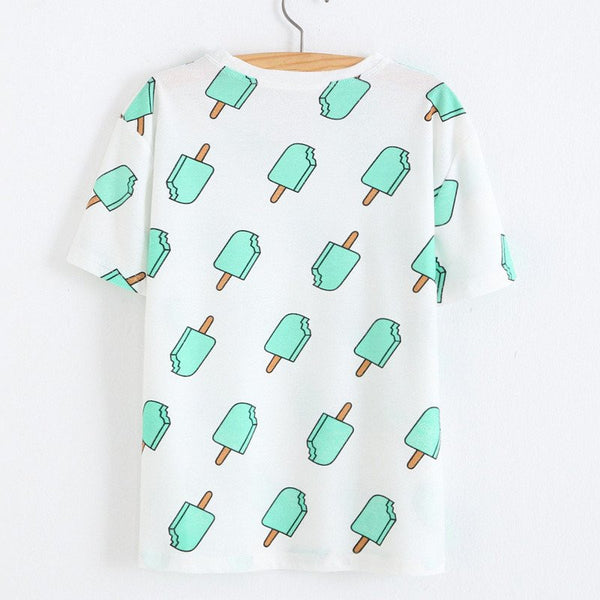Harajuku Ice-lolly Summer T-shirt