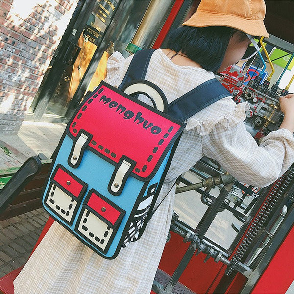 Harajuku Fashion Students 3D Canvas Backpack