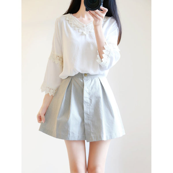 Sweet shirt + skirt two-piece outfit KW179135