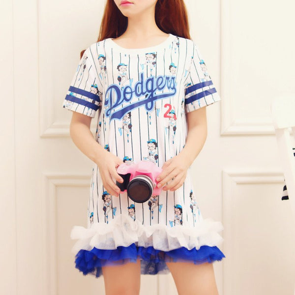 Japanese Cute Stripes cartoon Dress