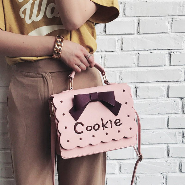 Pink/Brown Bowknot Embroidery Bag KW1812540