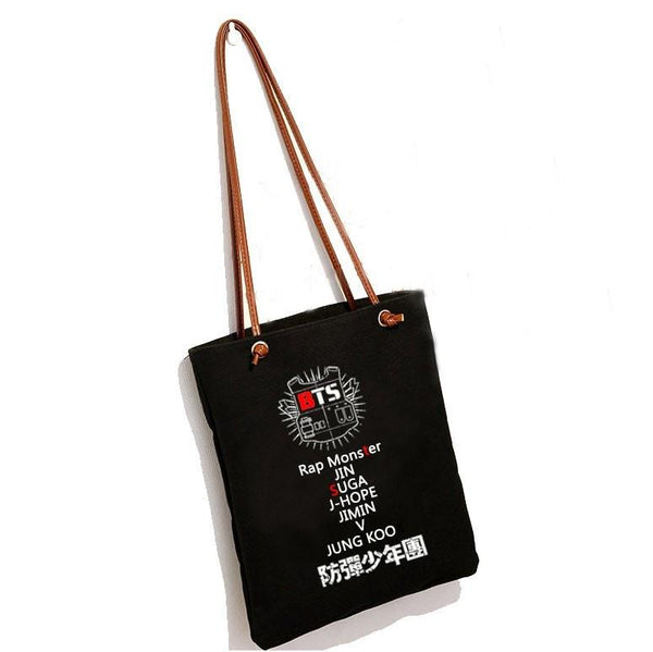 Black/White BTS Tote Bag