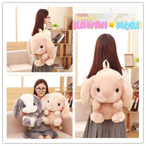 5 Colors Cute Bunny Plush Backpack KW1811959 - kawaiimoristore