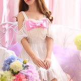 Sweet Bowknot Condole Belt Chiffon Dress