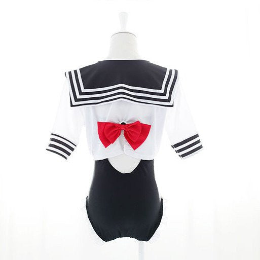 Japanese Virgin killer School Uniform Swimsuit  KW179847