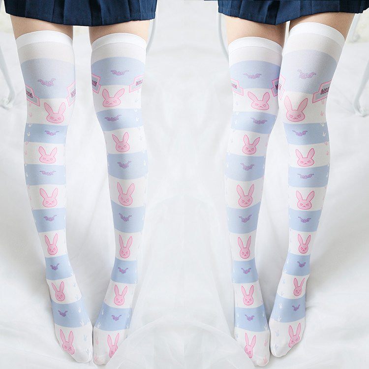 Cute Kawaii Cartoon D.VA Printing Stockings KW179446