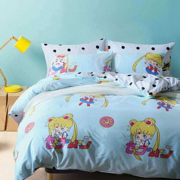 Sailor Moon Kawaii Cartoon Bed Sheet KW179227