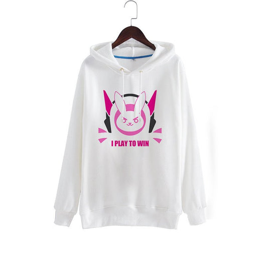 White Cartoon DVA Hoodie Fleece Pullover