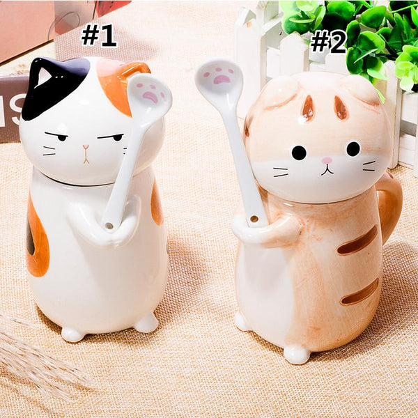 Kawaii Kitty Cat Ceramic Tea/Coffee Mug/Cup KW179151 - kawaiimoristore