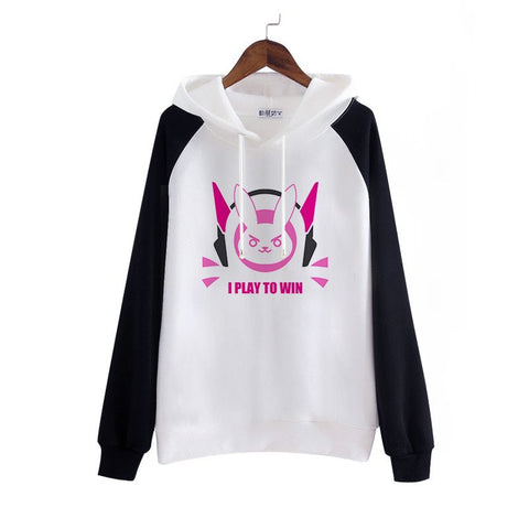 White Cartoon DVA Hoodie Fleece Pullover KW168280