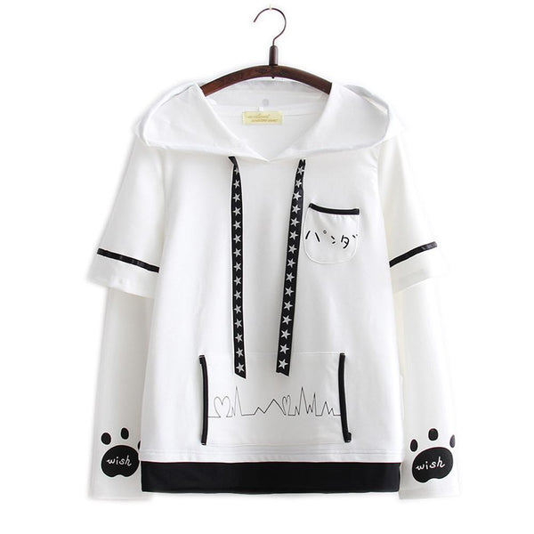 Kawaii Panda Long Sleeves T-shirt KW1711005