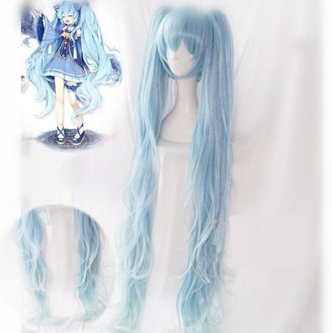 Hatsune Miku Cosplay Long Curly Wig KW178751