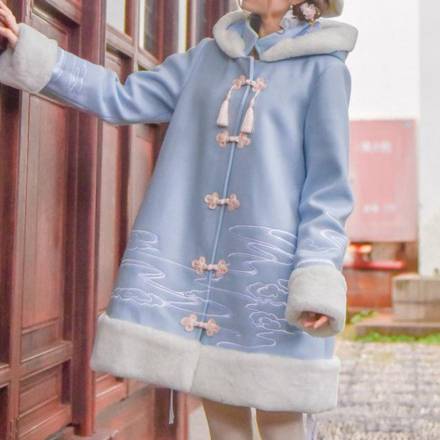 Warm Winter Woolen Peach Blossom Ancient Coat