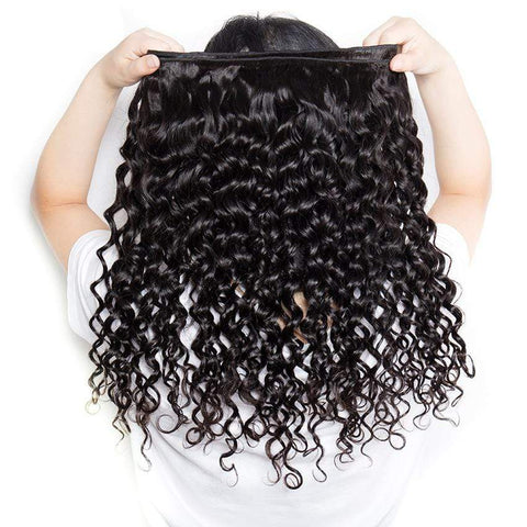 Water Wave Human Hair Weave Brazilian 100% Human Hair Bundles Ship From US