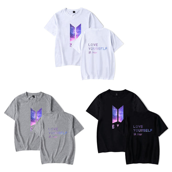 White/Gray/Black BTS Galaxy Love Yourself Tee Shirt