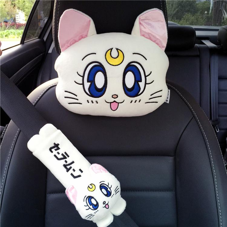 White/Pink/Blue Kawaii Sailor Moon Car Pillow/Shoulder Pad K13330