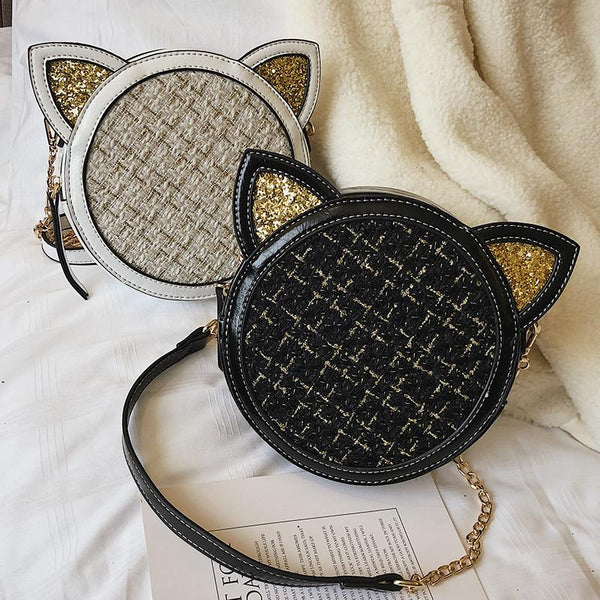 White/Wine/Black Kawaii Ears Cross Body Bag K13414