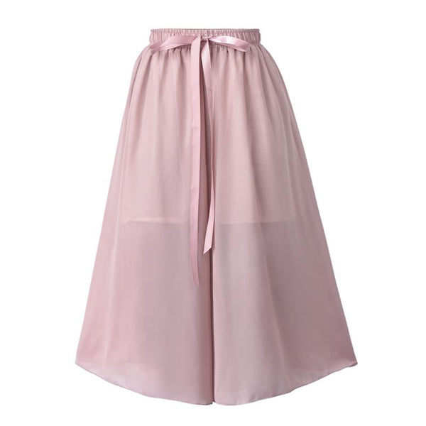 Women Chiffon Cropped Trousers