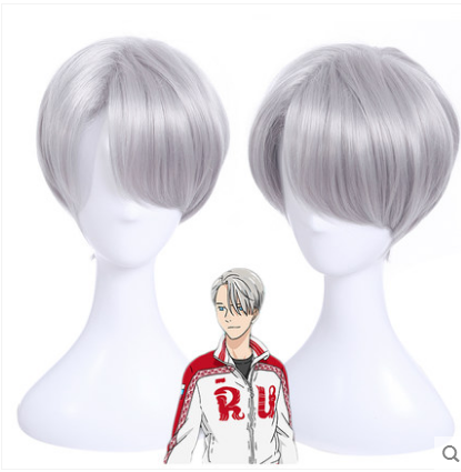 YURI!!! on ICE Victor Nikiforov Sliver Cosplay Wig KW168351