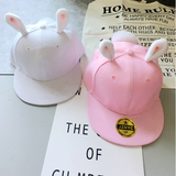 Pink/white bunny ear hat