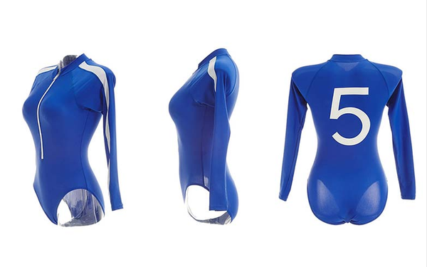 Lucky Number 5 One-piece Students Sports Swimwear