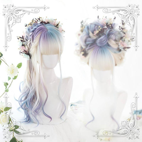 Gradient Mixed Color Lolita Long Curl Wig K14542