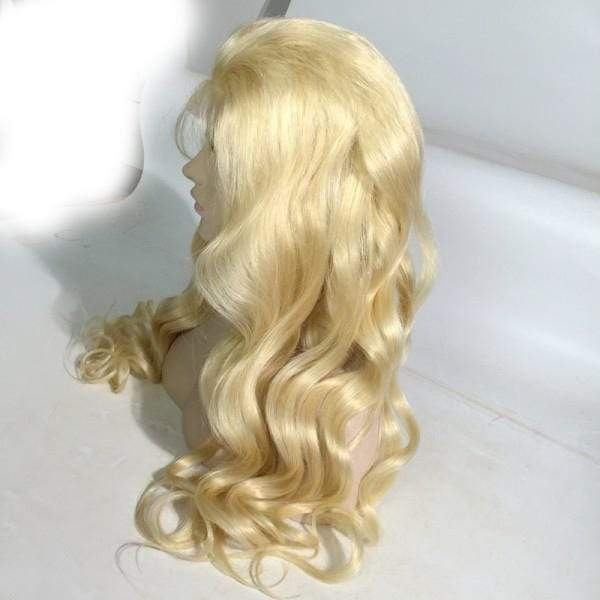 Body Wave 613 Blonde Human Hair Wigs Transparent Lace Brazilian Virgin 100% Human Hair