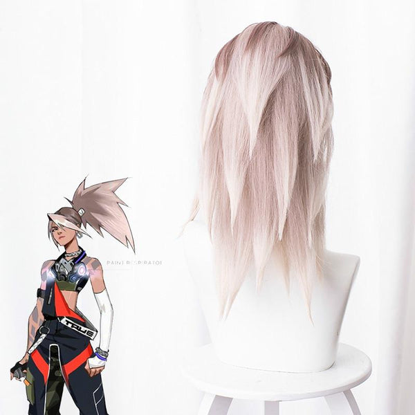 League of Legends Akali Cosplay Wig with Tail K14700