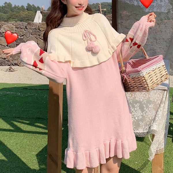 Sweet Heart Jacquard Knit Dress K14684