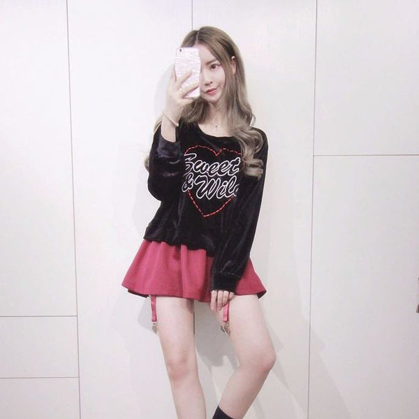 Harajuku Sweet & Wild Embroidered Long Loose Sweater