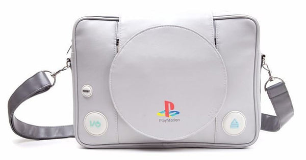Japanese Playstation Game Silver Shoulder Backpack