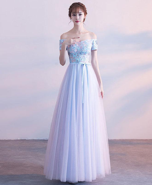 Cut Lace Tulle Long Prom Dress, Lace Evening Dress - DelaFur Wholesale