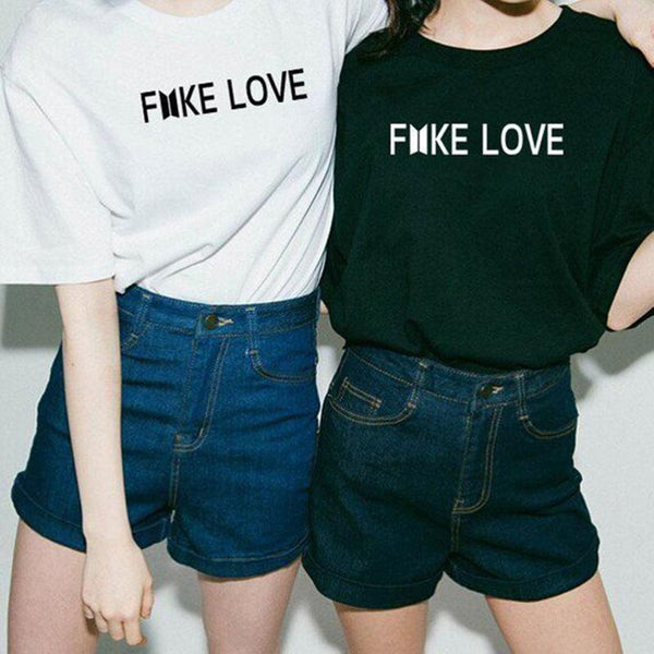 Black/White/Grey BTS Fake Love Tee Shirt
