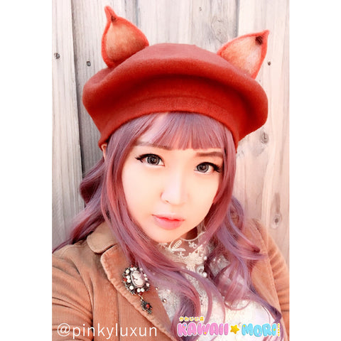 Lovely Fox Ears Beret KW178727