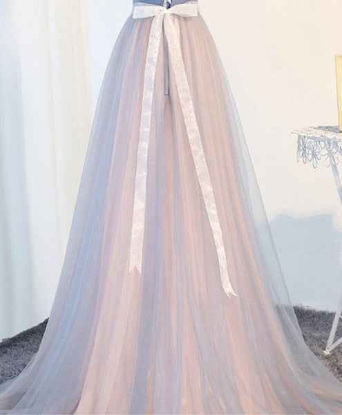 Charming A-Line Sweetheart Tulle Long Prom Dress, Formal Dresses - DelaFur Wholesale