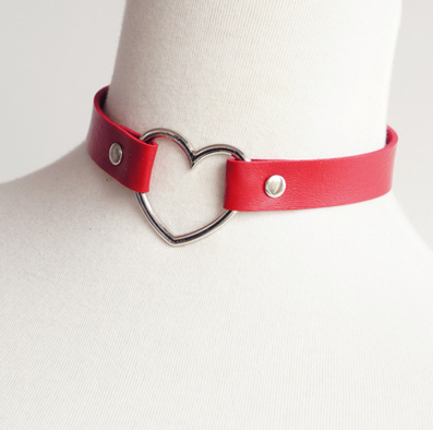 5 colors Heart Hollow Neck Choker Garter KW153292