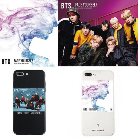Black/White BTS Face Yourself Phone Case