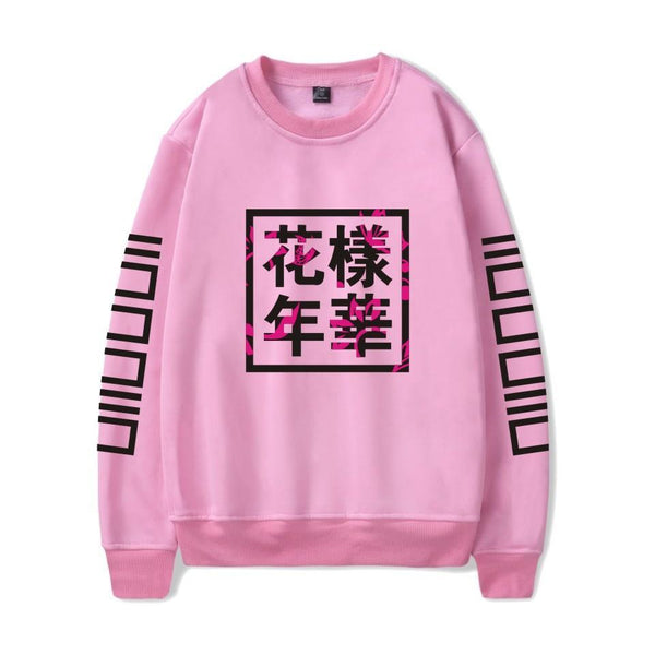 4 Colors BTS Retro Floral Pullover Jumper