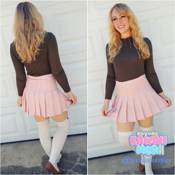 Sweet Students Tall Waist Pleated Skirt KW178928