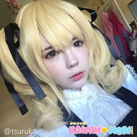 45cm Short Curly Blonde Batman Harley Quinn Synthetic Anime Cosplay Wig KW178994 - kawaiimoristore