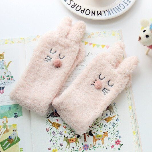 Lovely Rabbit Coral Fleece Socks KW168452