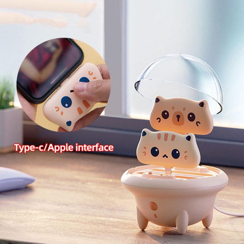Mini Cute Cat Portable Fast Charging Power Bank K14912 - kawaiimoristore