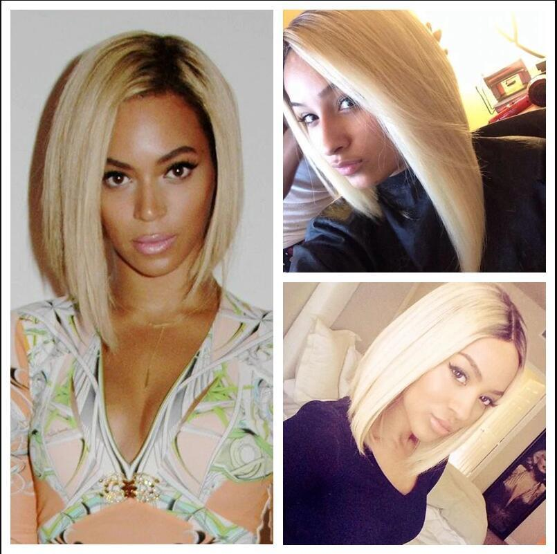 Ombre 13×6 Blonde Short Bob Wigs For Women Bob Lace Wigs 613 Wig In Stock