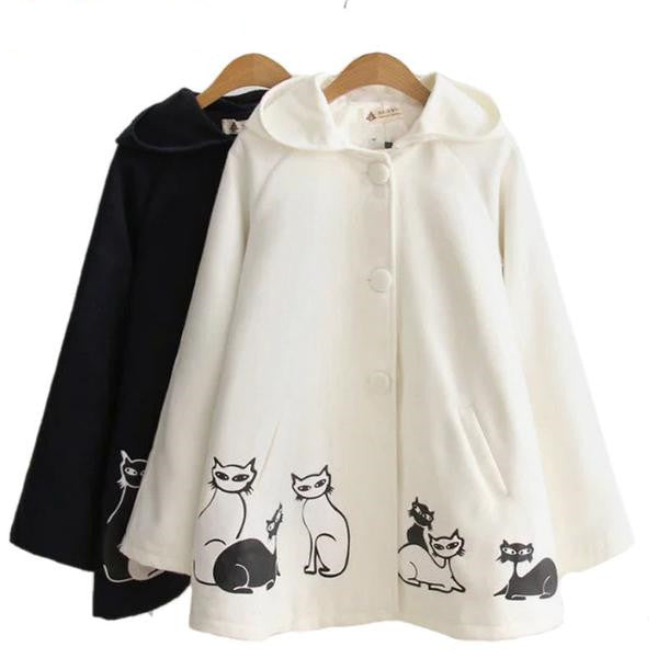 Cat Printed Coats