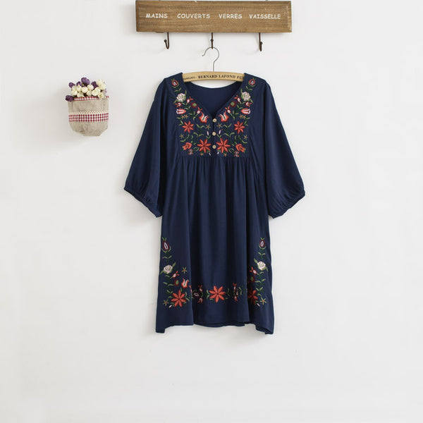 Floral  Loose Blouse Dress KW178931