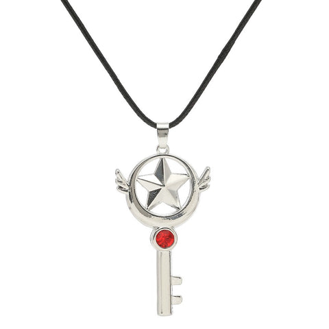 Sliver Cardcaptor Sakura  Key Pendant Chain Necklace