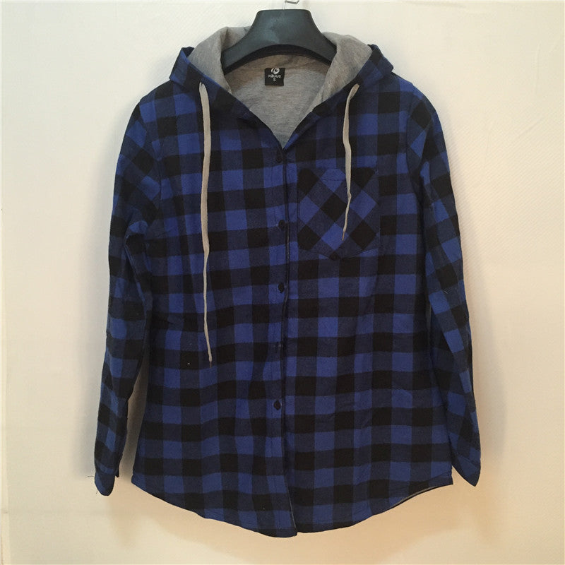 Hip hop Streetwear Plaid Shirt